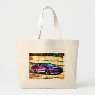 Dodge Challenger Large Tote Bag