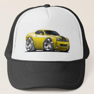 Dodge Challenger Yellow Car Trucker Hat
