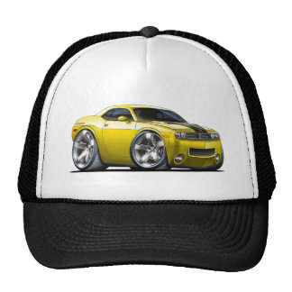 Dodge Challenger Yellow Car Trucker Hat