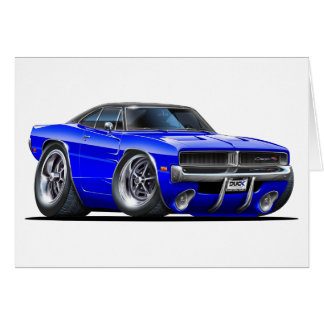 Dodge Charger Blue Car Card