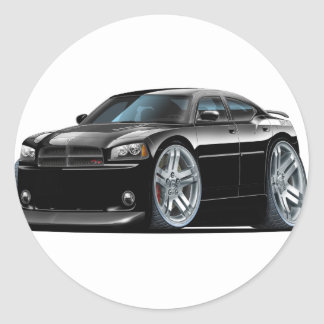 Dodge Charger Daytona Black Car Classic Round Sticker