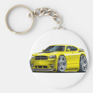Dodge Charger Daytona Yellow Car Keychain