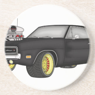 dodge charger drink coasters