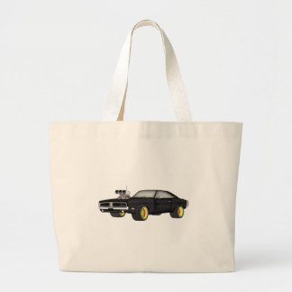dodge charger large tote bag
