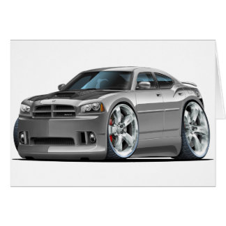 Dodge Charger Super Bee Grey Car Card