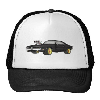 dodge charger trucker hat