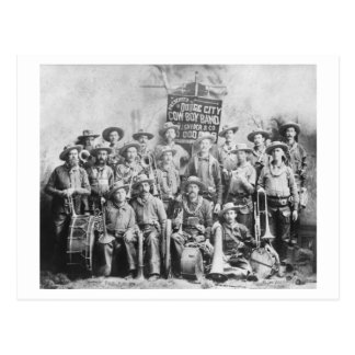 Dodge City Cow-Boy Band with Instruments Postcard