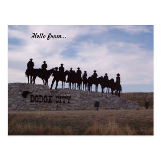 dodge city kansas postcard