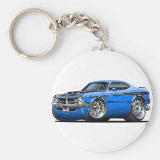 Dodge Demon Blue Car Basic Round Button Keychain