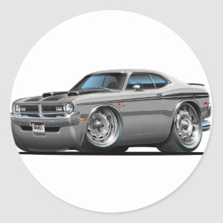 Dodge Demon Grey Car Classic Round Sticker