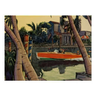 Dodge Motor Speed Boat Jungle Cruise Poster