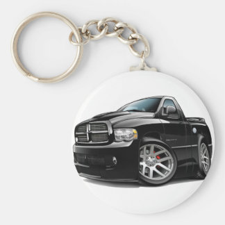 Dodge SRT10 Ram Black Basic Round Button Keychain