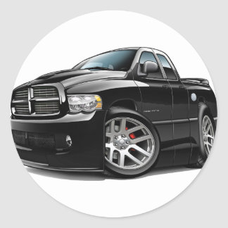 Dodge SRT10 Ram Dualcab Black Round Sticker