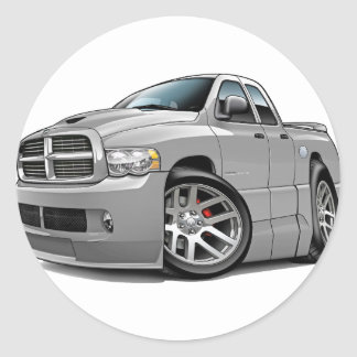Dodge SRT10 Ram Dualcab Grey Round Sticker