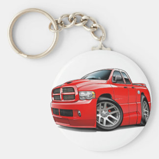 Dodge SRT10 Ram Dualcab Red Basic Round Button Keychain