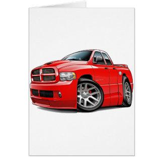 Dodge SRT10 Ram Dualcab Red Greeting Card