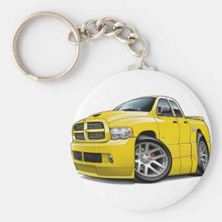 Dodge SRT10 Ram Dualcab Yellow Basic Round Button Keychain