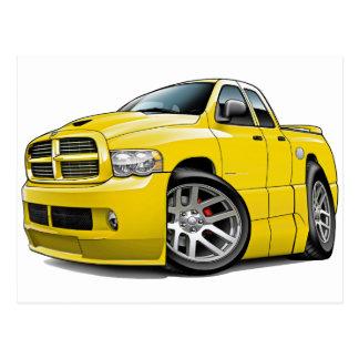 Dodge SRT10 Ram Dualcab Yellow Postcard