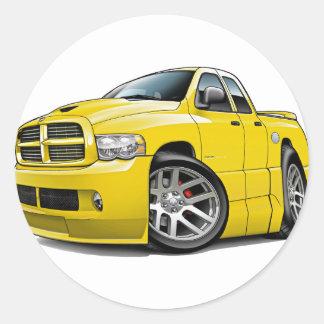 Dodge SRT10 Ram Dualcab Yellow Round Sticker
