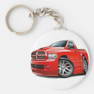 Dodge SRT10 Ram Red Basic Round Button Keychain