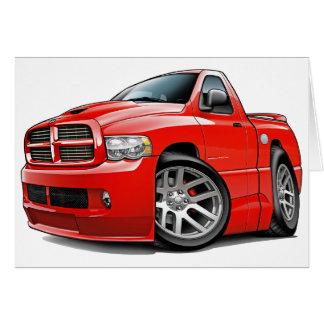 Dodge SRT10 Ram Red Greeting Card