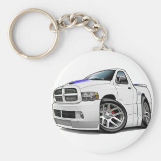 Dodge SRT10 Ram White Basic Round Button Keychain