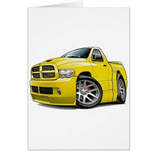 Dodge SRT10 Ram Yellow Greeting Card