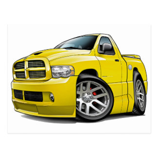 Dodge SRT10 Ram Yellow Postcard