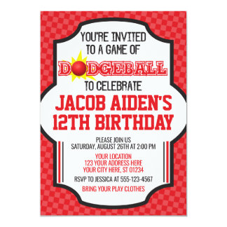 Dodgeball Birthday Invitation | Dodge Ball Invite