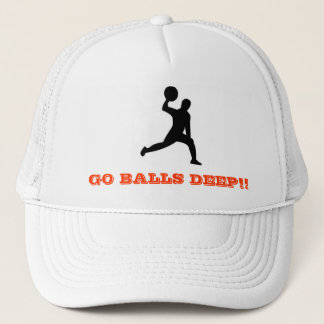 dodgeball, GO BALLS DEEP!! Trucker Hat