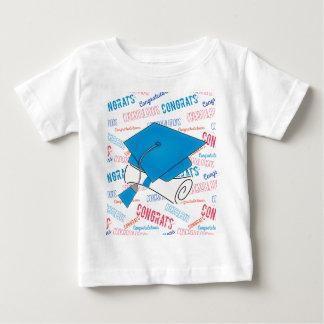 Dodger Blue Graduation Cap and Diploma Baby T-Shirt