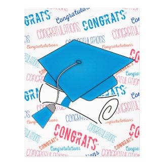 Dodger Blue Graduation Cap and Diploma Letterhead