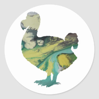 Dodo Art Classic Round Sticker
