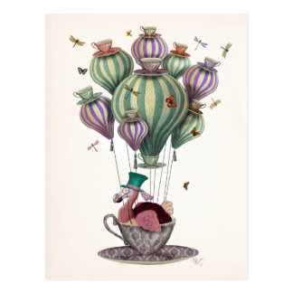 Dodo Balloon with Dragonflies Postcard