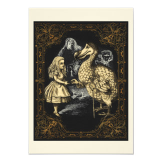 Dodo Bird Alice in Wonderland Party Invitation