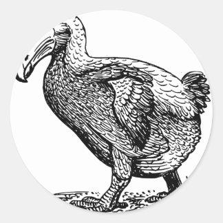 Dodo Bird Classic Round Sticker