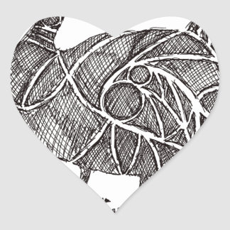 Dodo Bird Heart Sticker