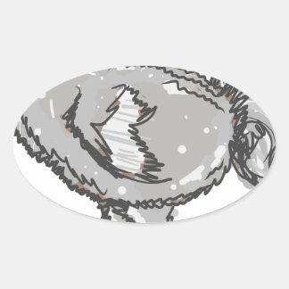 Dodo Bird Oval Sticker
