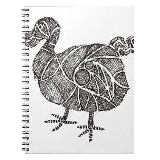 Dodo Bird Spiral Notebook