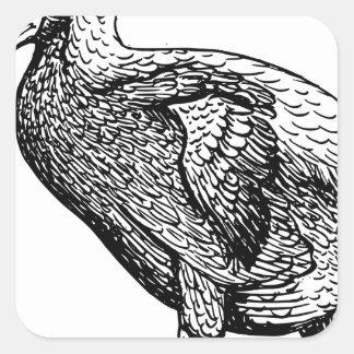 Dodo Bird Square Sticker