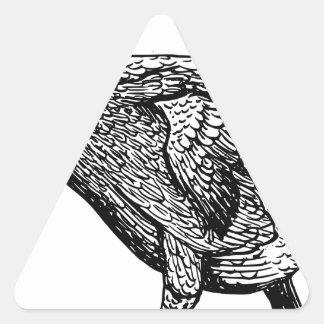Dodo Bird Triangle Sticker