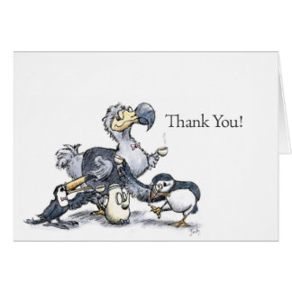 (Dodo, Toucan, and Puffin) Thank you! Card