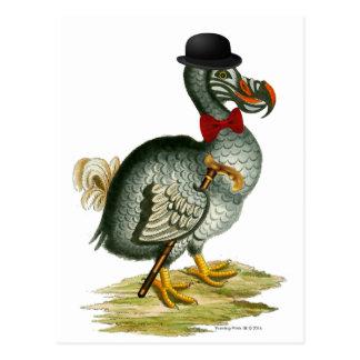 Dodo Wears Bowler Bow Tie Vintage Postcard