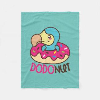 Dodonut Dodo Bird Doughnut Fleece Blanket
