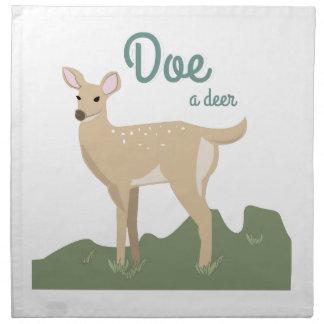 Doe A Deer Cloth Napkins