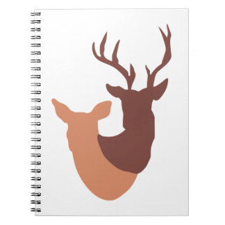 DOE AND BUCK DEER NOTE BOOKS
