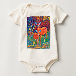 Doe and Fawn Baby Bodysuit