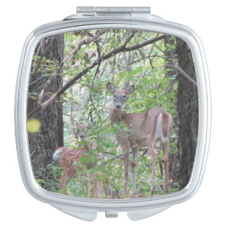 Doe and Her Fawn Makeup Mirror