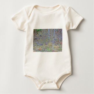 Doe deer and fawns baby bodysuit