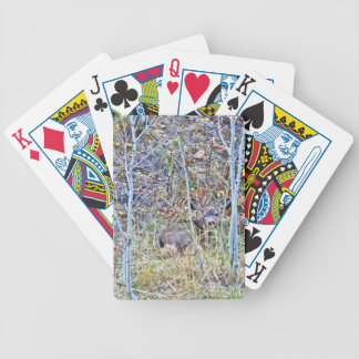Doe deer and fawns bicycle playing cards